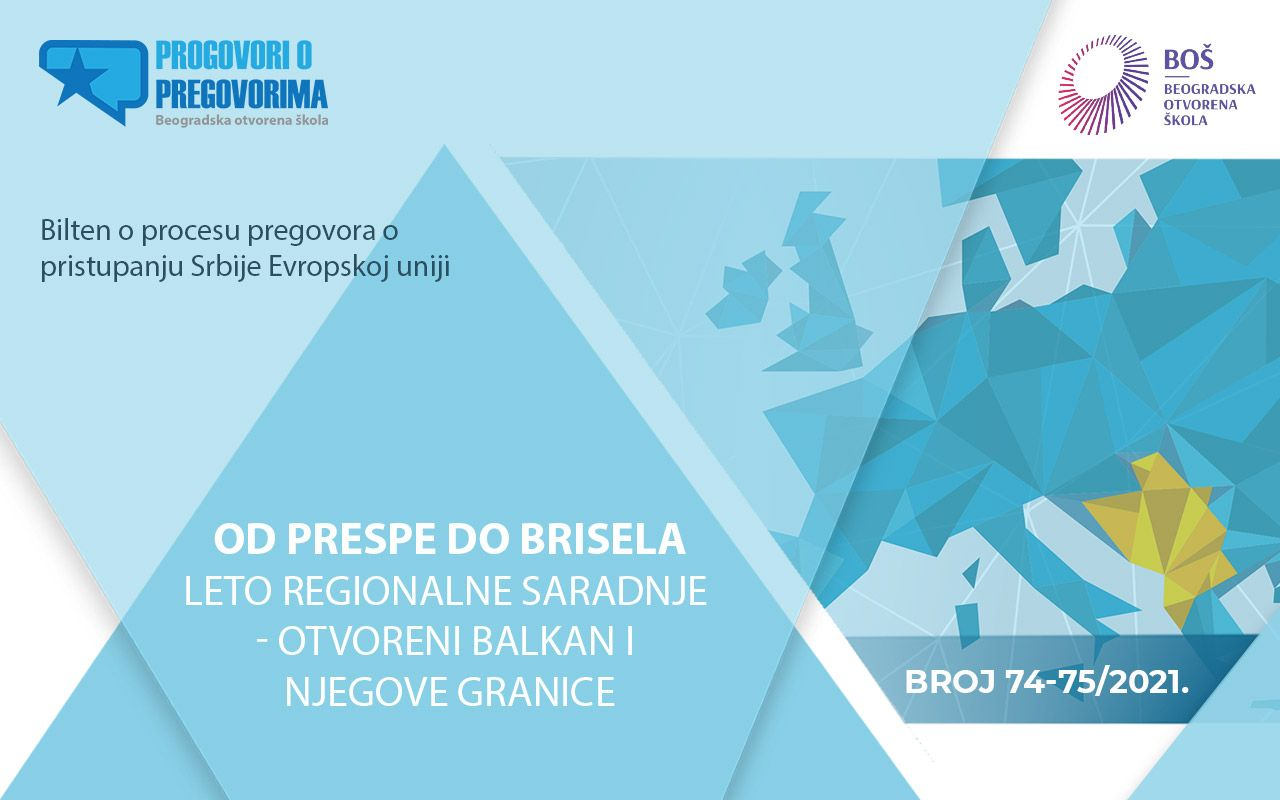 "Dostupan 74/75. dvobroj biltena ""Od Prespe do Brisela, leto regionalne saradnje - otvoreni Balkan i njegove granice"""