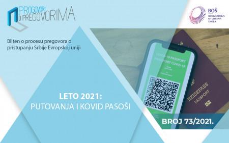 "Dostupan 73. broj biltena ""Leto 2021: putovanja i kovid pasoši"""