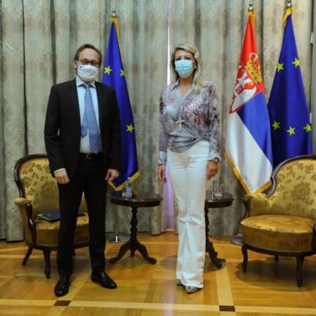Joksimović sa Žofreom: Zajednički rad za ubrzanje evropskih integracija