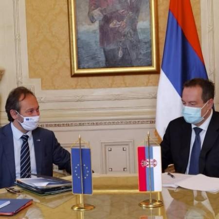 Žofre sa Dačićem: Delegacija EU će uraditi sve kako bi pomogla proces međustranačkog dijaloga
