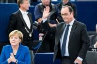 Fransoa Olan i Angela Merkel pred poslanicima Evropskog parlamenta